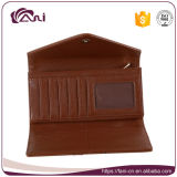Бумажник PU женщин конструкции габарита цвета Brown с монетной щелью