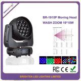 최고 디스코 빛 LED 19*15W 이동하는 단계 점화 세척 급상승