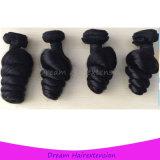 Prämie kein Faser-loses Wellen-Haar peruanisches Remy menschliches Jungfrau-Haar