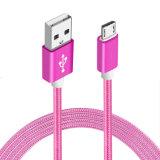 кабель заряжателя данным по USB 3FT 5V 2A высокоскоростной поручая с алюминиевой раковиной