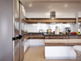 純木(カシ)の食器棚