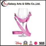Kundenspezifische Wein-Probieren-Handfreie Polyester-Wein-Glas-Halter-Abzuglinie