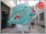 Mascotte gonfiabile C1-406 del fumetto dei delfini