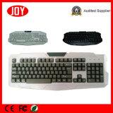 USB teclado de ordenador Djj218 blanca para el teclado del jugador del juego Wired
