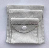 卸し売り方法クリームボタンが付いているさまざまな機能二重側面のスエードのクラムシェルの袋