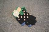 Leuk pvc stippelt Magische Handschoenen met Pompom