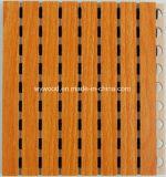 Teto Grooved de madeira do painel acústico