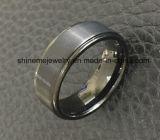 Anillo plateado oro del tungsteno de la joyería de la alta calidad de la joyería de Shineme (TST2838)