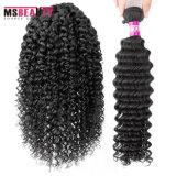 Extensões brasileiras da trama do cabelo humano do Weave 100% do cabelo