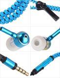 3.5mmのジッパーのイヤホーンのステレオのヘッドセットのEarbudsのヘッドホーン