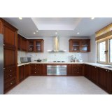 Ontwerp van de Kasten van de Keuken van de Keukenkasten van de luxe het Stevige Houten U-vormige