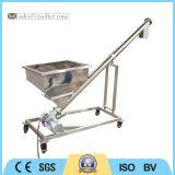 Transporte de parafuso pequeno Inclined do aço inoxidável com funil