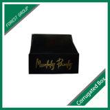 カスタムホイルが付いている黒い紙箱の金ホイルボックスは出荷のために押した