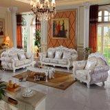Sofá Home com frame do sofá e a tabela de madeira do lado (929D)