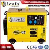 7kw 7000 와트 방음 Diesel Powered 휴대용 발전기 (전기 시작)