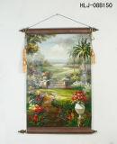 Tropisches Garten-Muster-Ausgangsdekoratives Segeltuch-hängende Farbanstriche