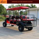 Le ce a reconnu le chariot de golf électrique de chasse de 8 passagers (les strapontins arrières d'arrière)