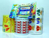 Impermeable auto-adhesivo de la etiqueta engomada con la impresión (JHXY-AS0001)