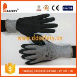 Ddsafety 2017の安全手袋を浸す切られた抵抗のサンディのニトリル