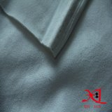 Tela de quatro vias da camurça do estiramento de matéria têxtil branca pura para o vestuário