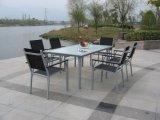 Mesa y silla de jardín al aire libre de aluminio