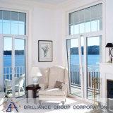 Aluminiumneigung-Drehung-Fenster mit doppeltem Glas