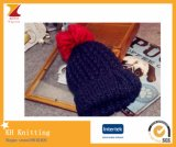 El nuevo estilo de 2016 inviernos embroma los sombreros con el Pompom colorido