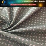 Ткань печатание ворсины Twill полиэфира мягкая для рубашек людей (ЛИСТЬЯ & ЦВЕТОК)