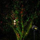 Lichten van Kerstmis van de Ster van de Laser van de motie de Lichte