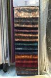 Tessuto animale del velluto della stampa del reticolo per l'indumento di modo (EDM5089)