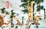 山およびタケおよびシャクヤクの景色モデルNo.が付いているフェニックスの豊かさそして名誉の図表: WL0214