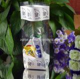 Saco inferior quadrado liso transparente de BOPP para doces, presente, pão, saco do alimento