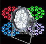 4in1 het Licht van het LEIDENE 18*8W RGBW PARI van het Aluminium