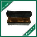 Empaquetage noir rond de boîte-cadeau de carton de prix usine