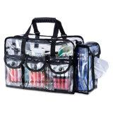 美しい透過プラスチックゆとりPVC構成の洗面用品の化粧品袋