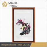 Het Chinese Muurschilderij van de Vogels en van de Bloemen van het Borduurwerk Levendige