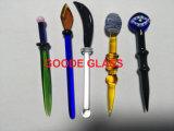 Kleurrijk Glas Dabber met Booreiland van de Waterpijp van het Glas het Rokende