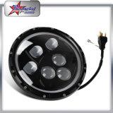 Linterna para el Wrangler del jeep con el anillo del halo, linterna redonda de 7 pulgadas LED de 60W LED con DRL