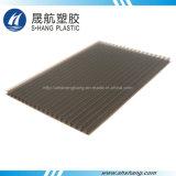 Feuille de couverture en plastique en polycarbonate creux en bronze foncé givré
