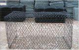 Engranzamento de fio revestido galvanizado pesado da caixa do PVC Gabion