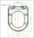Siège des toilettes de carte de travail de fin de doux de charnière d'acier inoxydable
