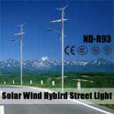 Luz de rua híbrida do vento solar com bateria de lítio