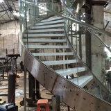 현대 구부려진 유리제 계단/나선형 계단 디자인/구부려진 계단/층계