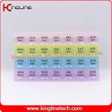 casella di plastica della medicina di nuovo disegno Nizza con 28-Cases (KL-92802F)