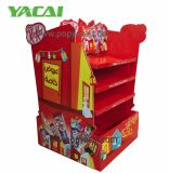 Publicidade Pop POS Cardboard Pallet Display Shelf for Chocolate, Warteproof Creative Corrugated Paperboard Pallet Display Racks