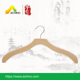 Естественные деревянные вешалки одежд с Non сжатиями выскальзования (WT500)