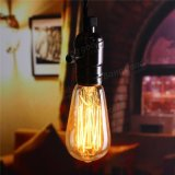 luz retra 220V/110V de la vendimia de la lámpara de filamento de la antigüedad del bulbo de 6W E27 St58 Edison