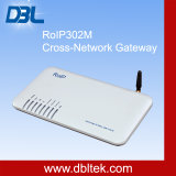 RoIP302M Cruz de la red de puerta de enlace de radio / GSM / VoIP / SIP Server