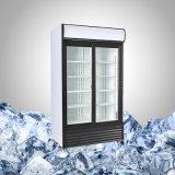 商業スライドガラスの両開きドア冷却装置