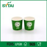 Firmenzeichen gedrucktes grünes doppel-wandiges Papiertee-Wegwerfcup